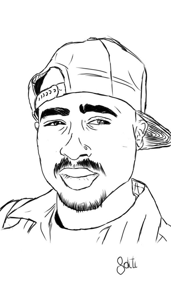 tupac amaru shakur sketch by diti97 on deviantart