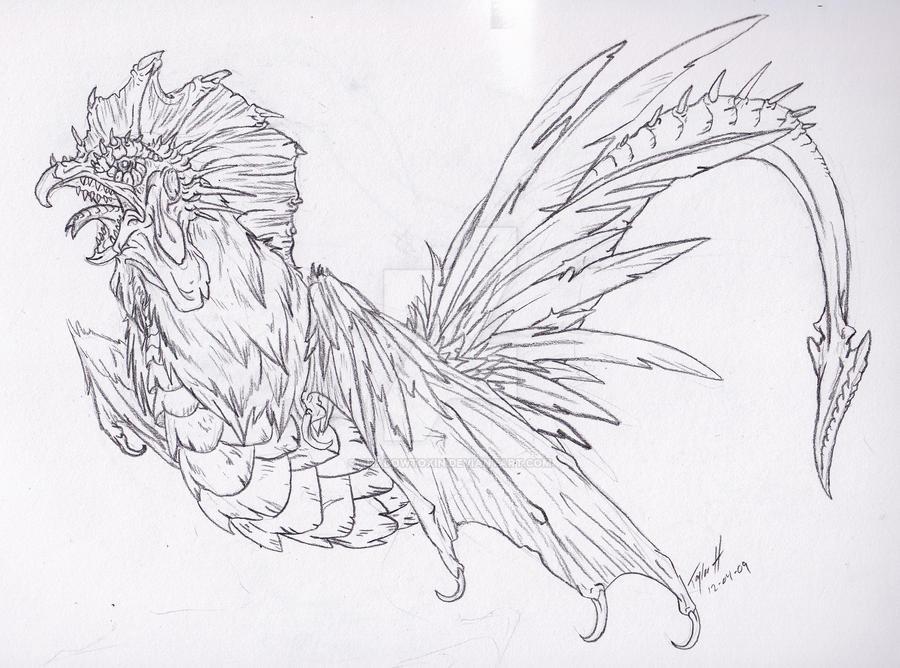 Evil Dragon Chicken by ShadowToxin on DeviantArt