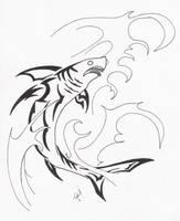 tribal shark by ShadowToxin