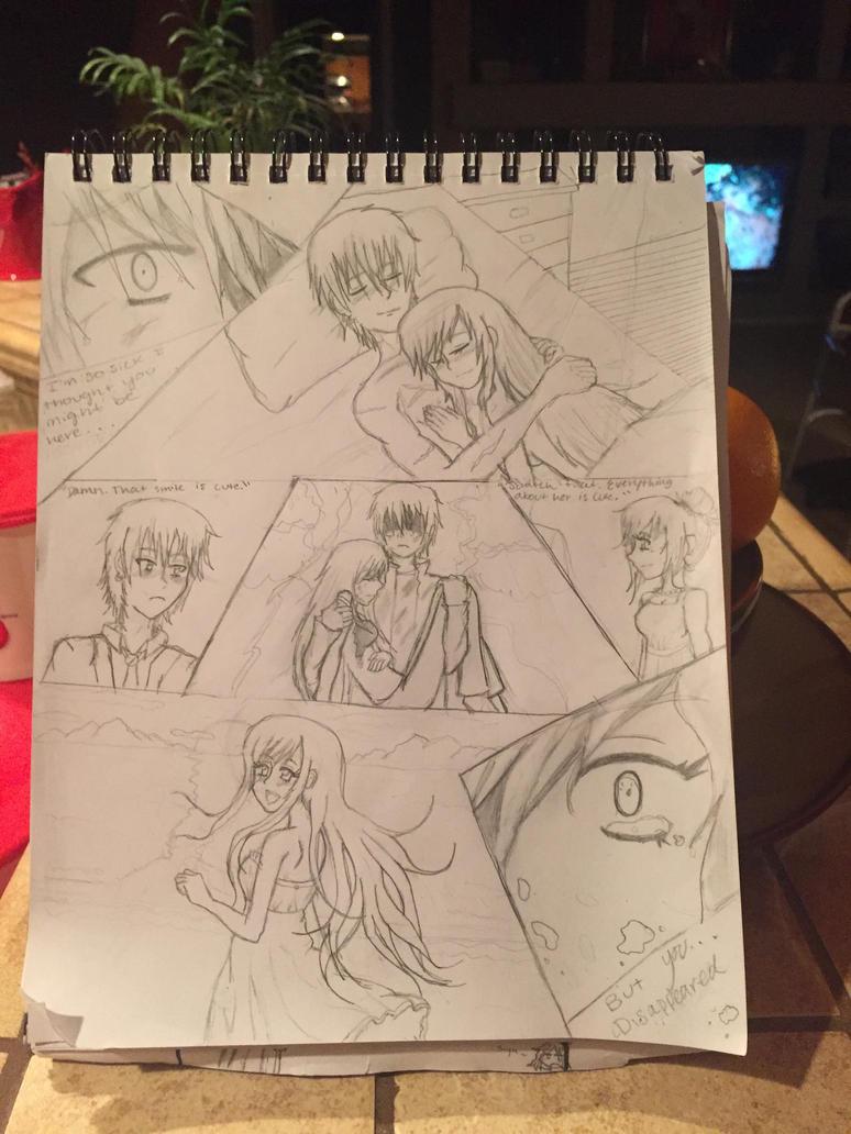 Leo and Mizu (Comic Line art) by Tmntfan13