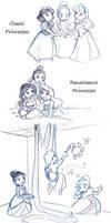 Disney Princess Trios by kolidescope