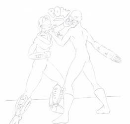 Action - Rampage vs Apex Predator 001 (Lines)