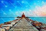 Rock sea path