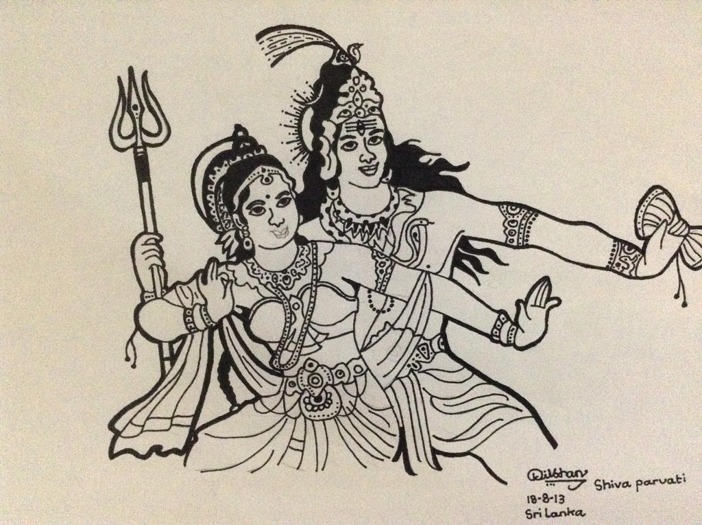 Dancing Lord Shiva And Godess Parvati By Thebuddhist1999 On Deviantart