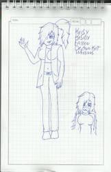 Kaisy Kasidy Fairen Demonkat Infernus -sketch-. by alejandra-infernus