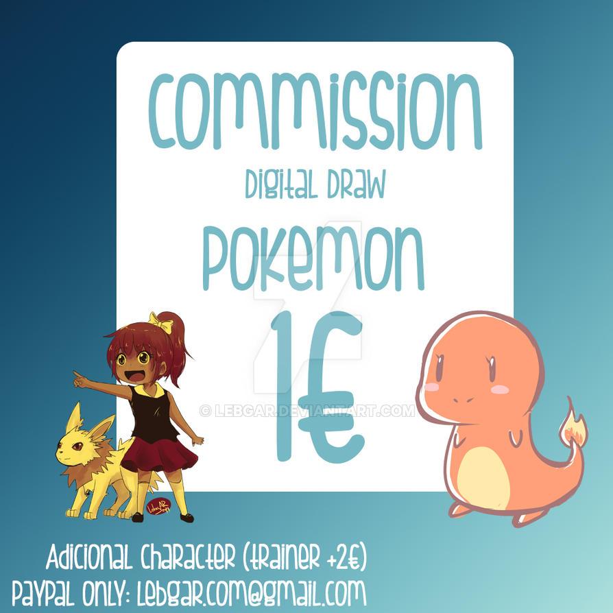 Pokemon Commissions by Lebgar