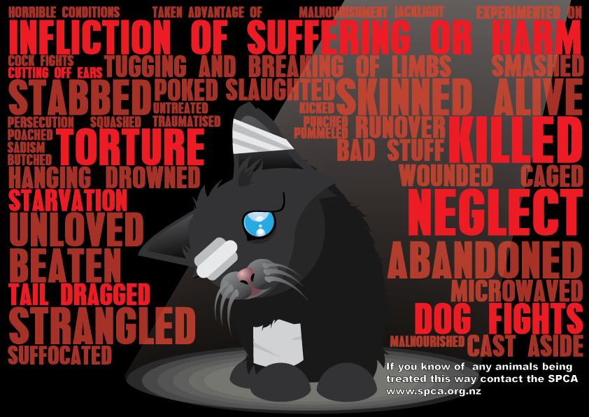 Animal abuse posters - photo#5