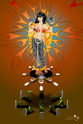 Rockabilly Goddess by insecteye