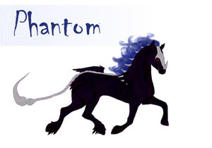 Phantom the Hellhorse (Contest entry) by Yanas-Darlings