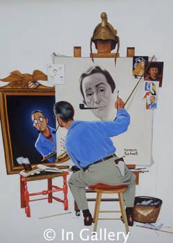 Triple Self Portrait- Norman Rockwell