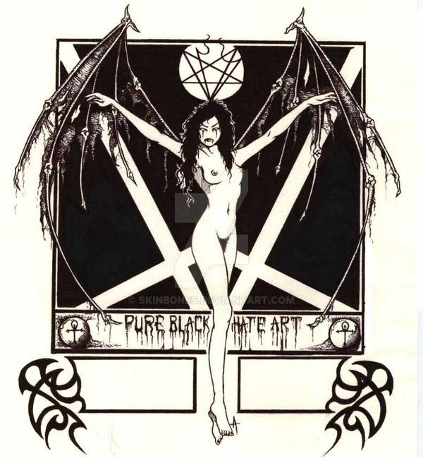 Her Dark Wings by skinbones