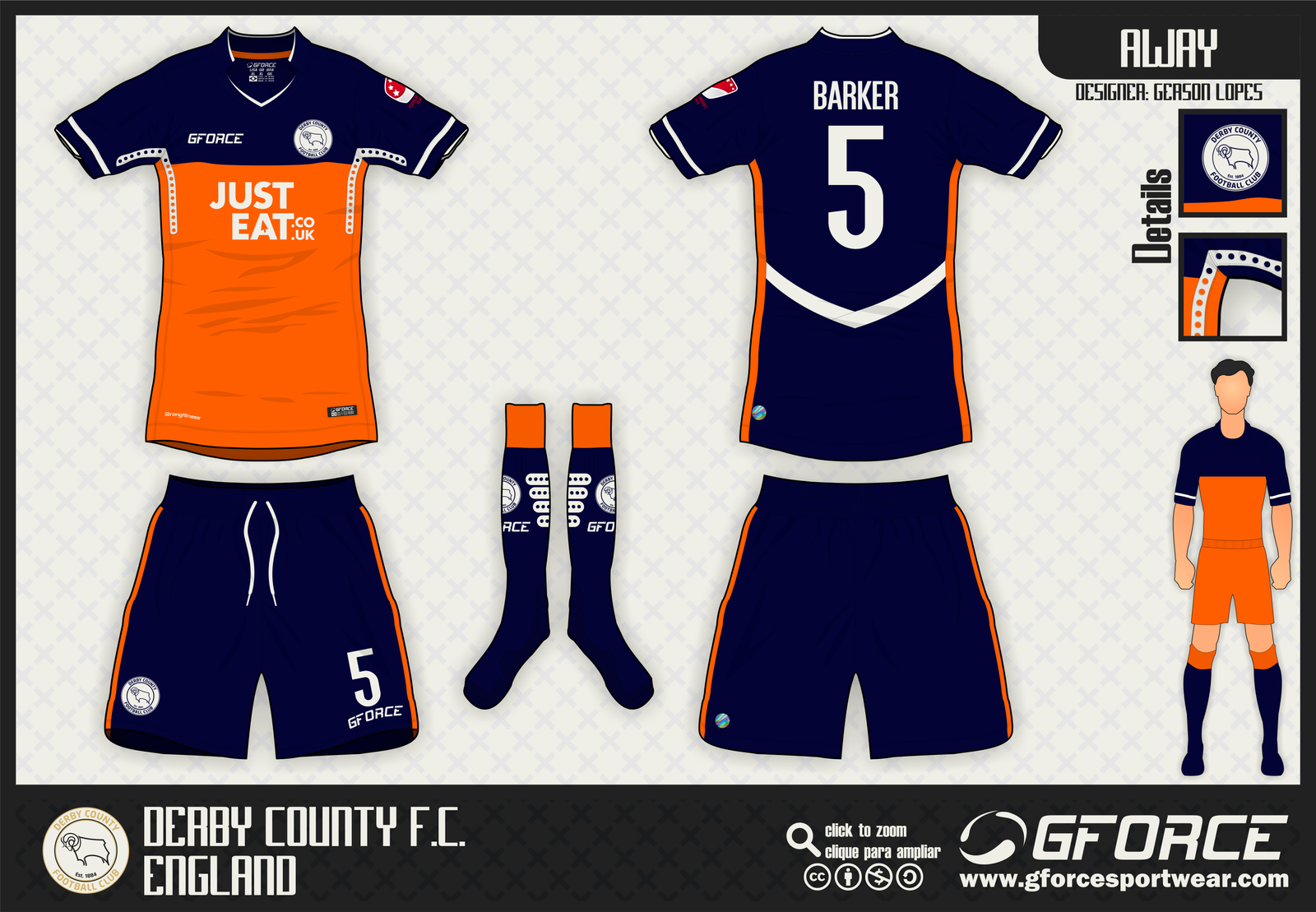 Derby County Away By Gersonlopesfilho On DeviantArt