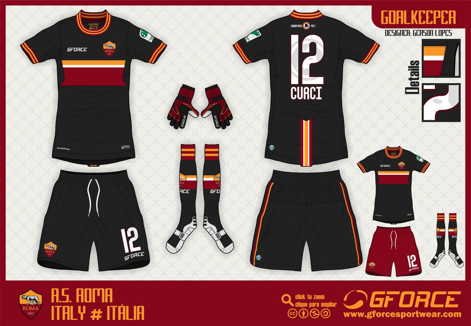 top fashion b577d 68e1c AS Roma Goalkeeper Kit by gersonlopesfilho on DeviantArt