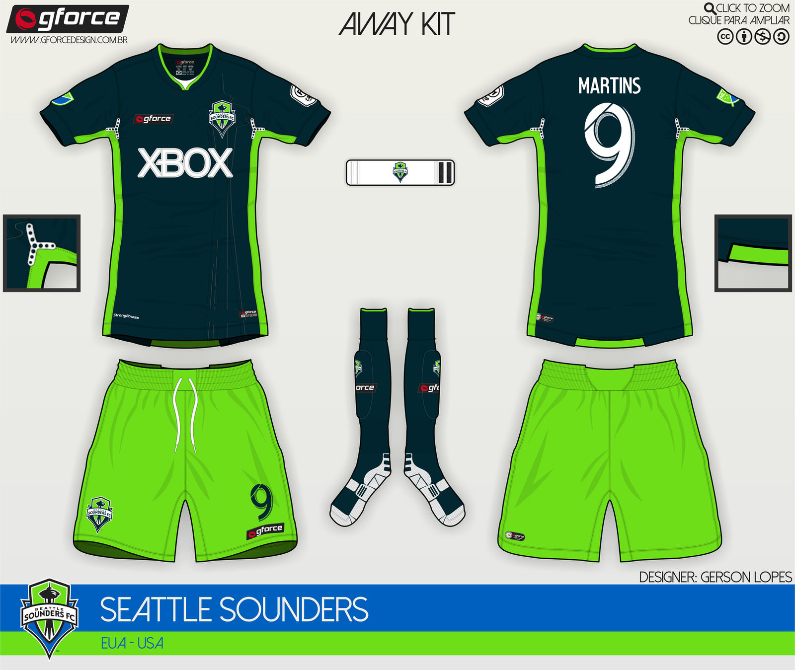the latest 51c59 40444 Seattle Sounders FC Fantasy Away Kit by gersonlopesfilho on ...