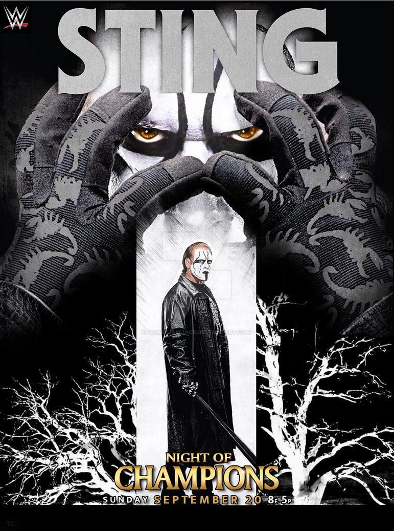 Sting [WWE Night of Champions] Poster by GrimmjawJack