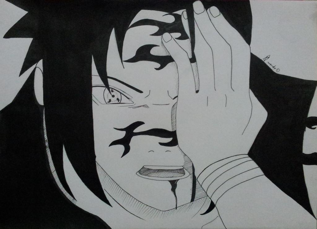 sasuke curse mark mode by Moudz13 on DeviantArt