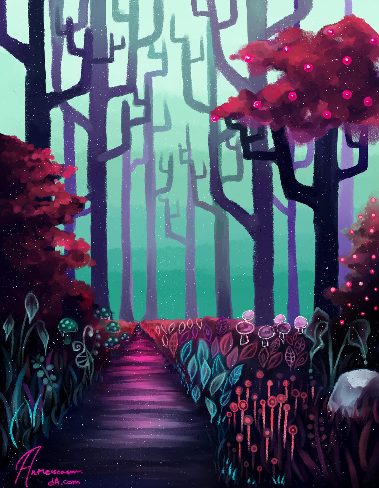 Sugar Plum Fairy Forest by antlerseason