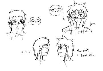 (OCs) Noel and Leon Sketches by Shine-Hikaru