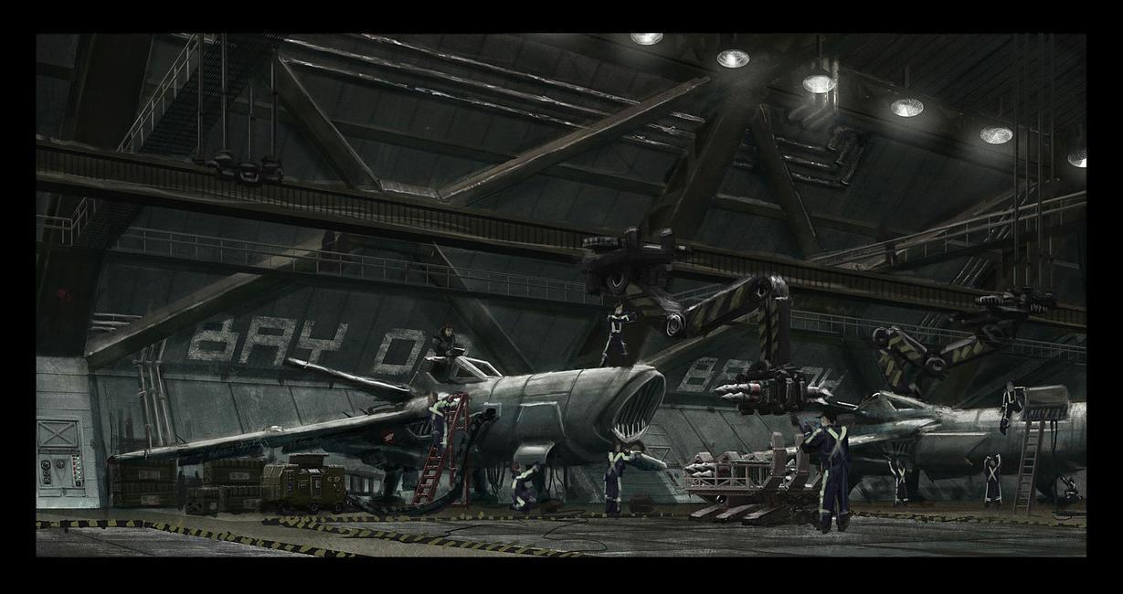 Hangar bay concept by philzero