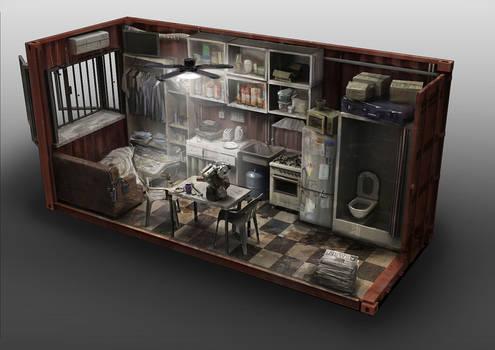 Container Apartment Interior