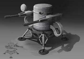 Lunar Defence Turret by philzero