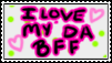 I Love My Best Friend Stamp by flowertigers