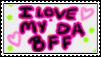 I Love My Best Friend Stamp by flowertigers