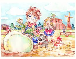 Harvest Moon Art Contest By Andrea Jen