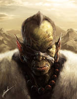 Orc Battle Leader by SirenD
