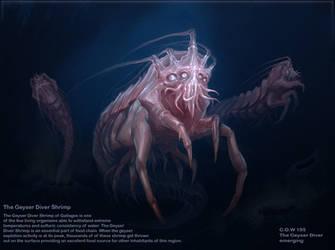 Geyser Diver Shrimp by SirenD