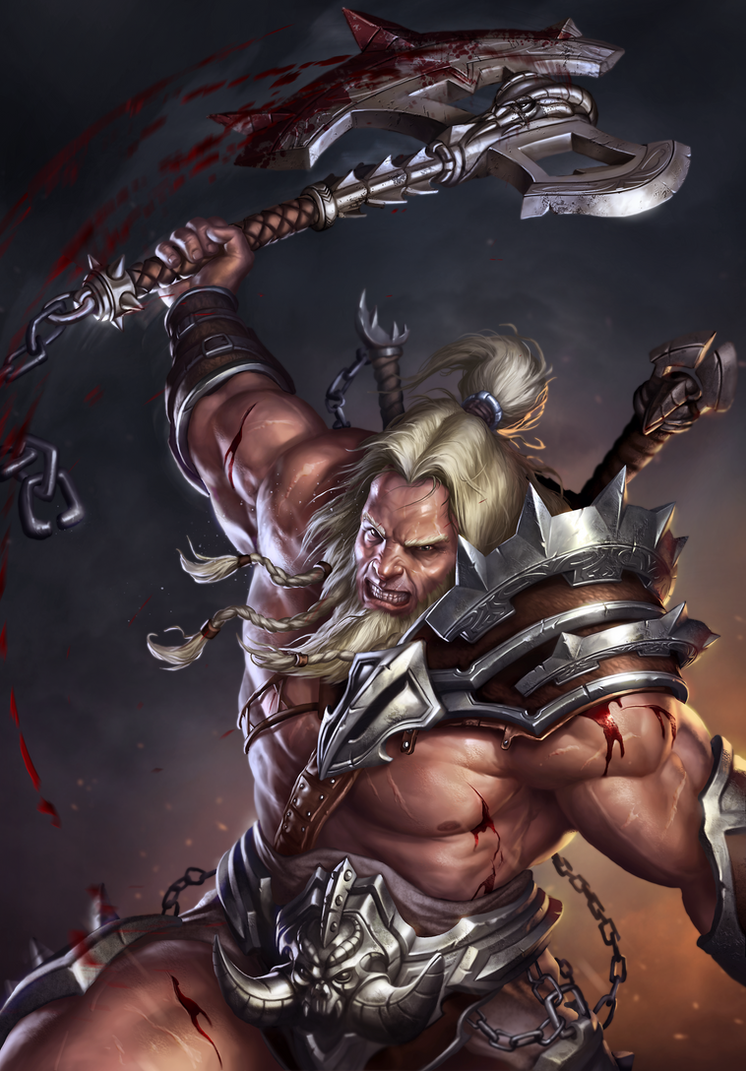 Diablo 3 - Barbarian by SirenD