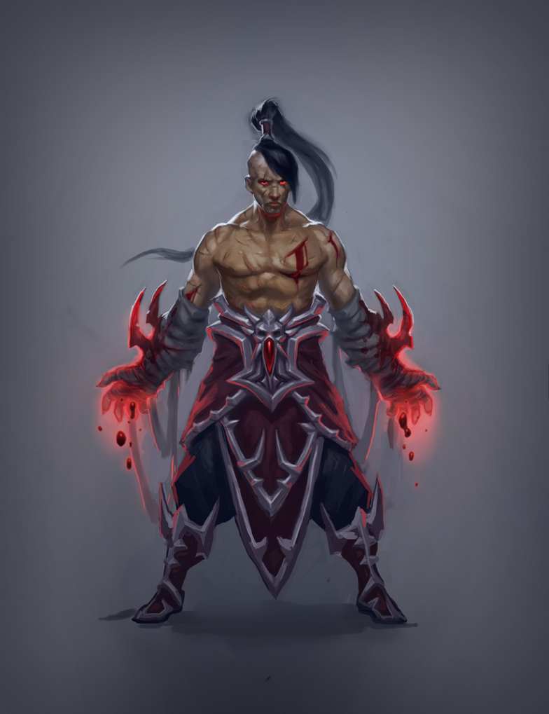 Blood Mage - Scarskin by SirenD