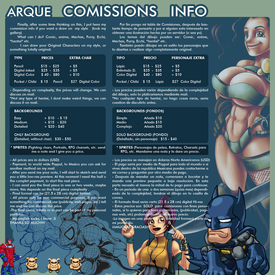 COMISSIONS INFO