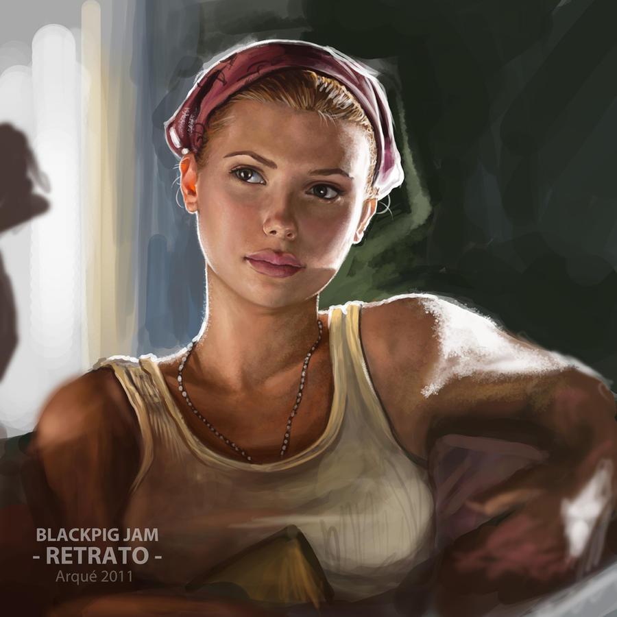 Scarlett Portrait Tryout by Arqueart