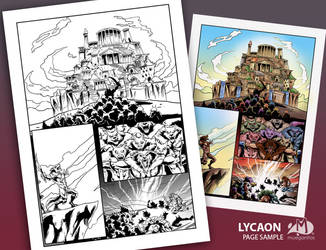 Lycaon Comic Page Sample by Arqueart