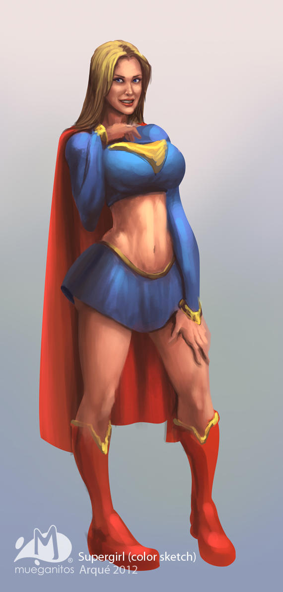 Supergirl Color Sketch