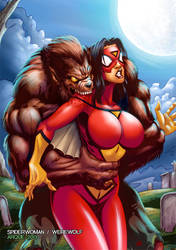 Spider Woman Werewolf Cover by Arqueart
