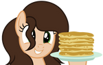 Artistic Melody with Pancakes