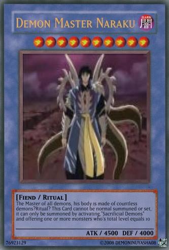 Demon Master Naraku Card By DemonInuyasha08