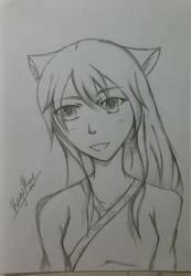 OC Sketch by KageHimeNoMai