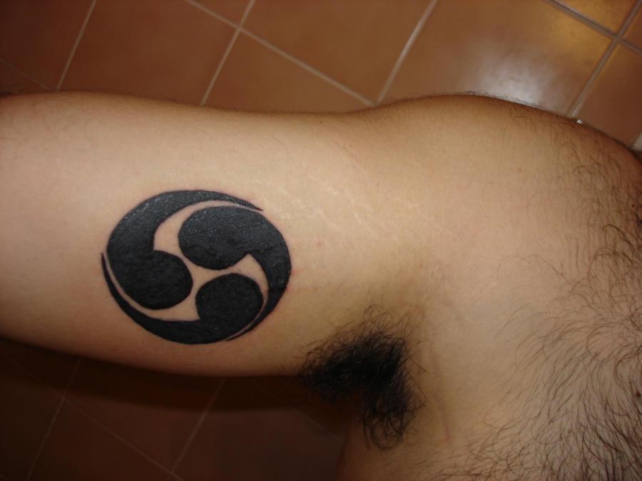 mitsudomoe tattoo by heketoru