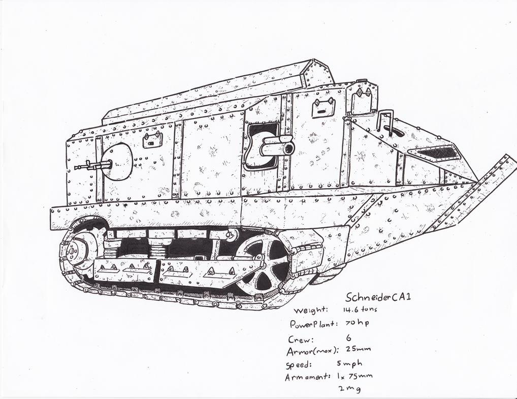 Schneider CA1 by ObershutzeWienman