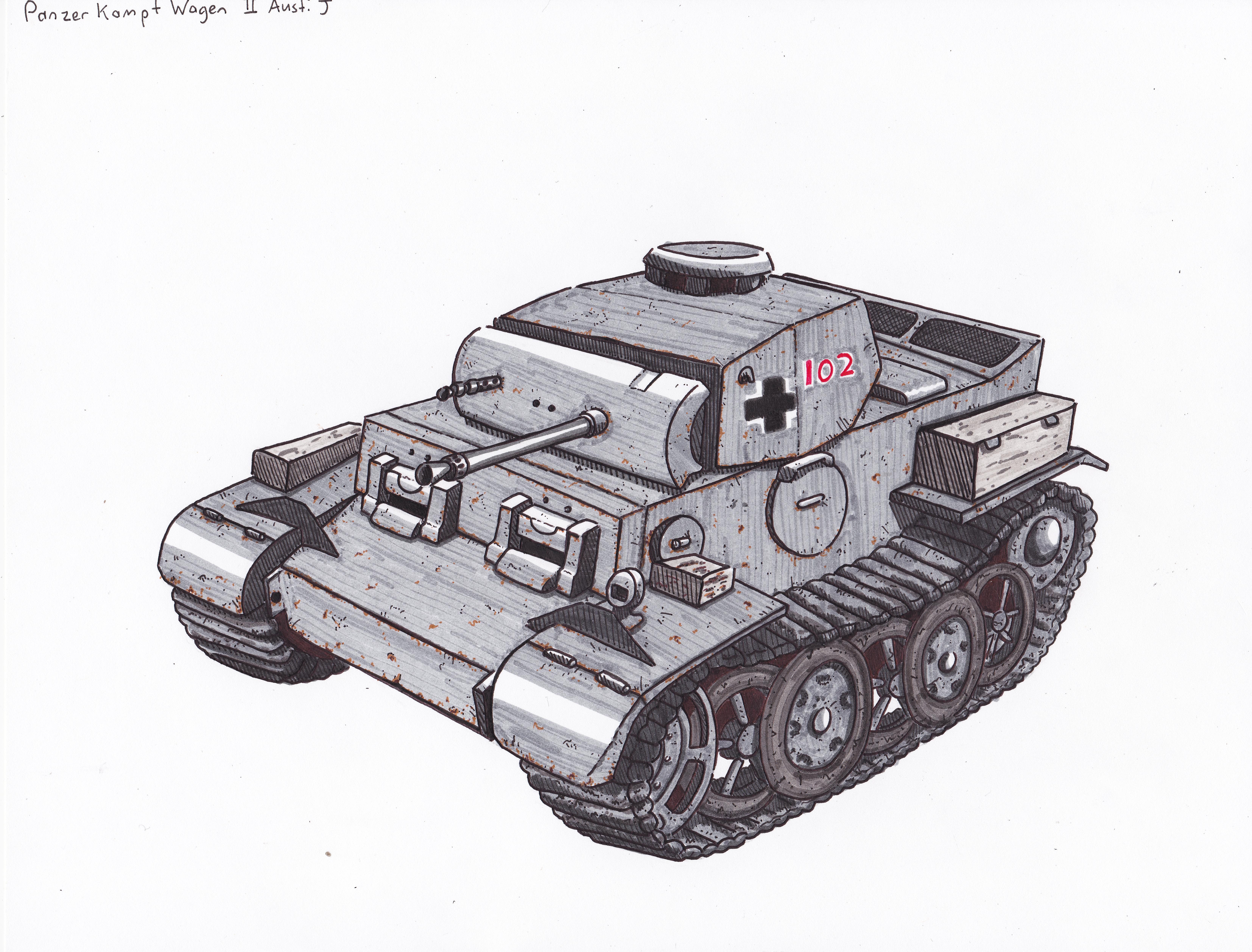 PanzerKampfWagen II Ausfuhrung J by ObershutzeWienman