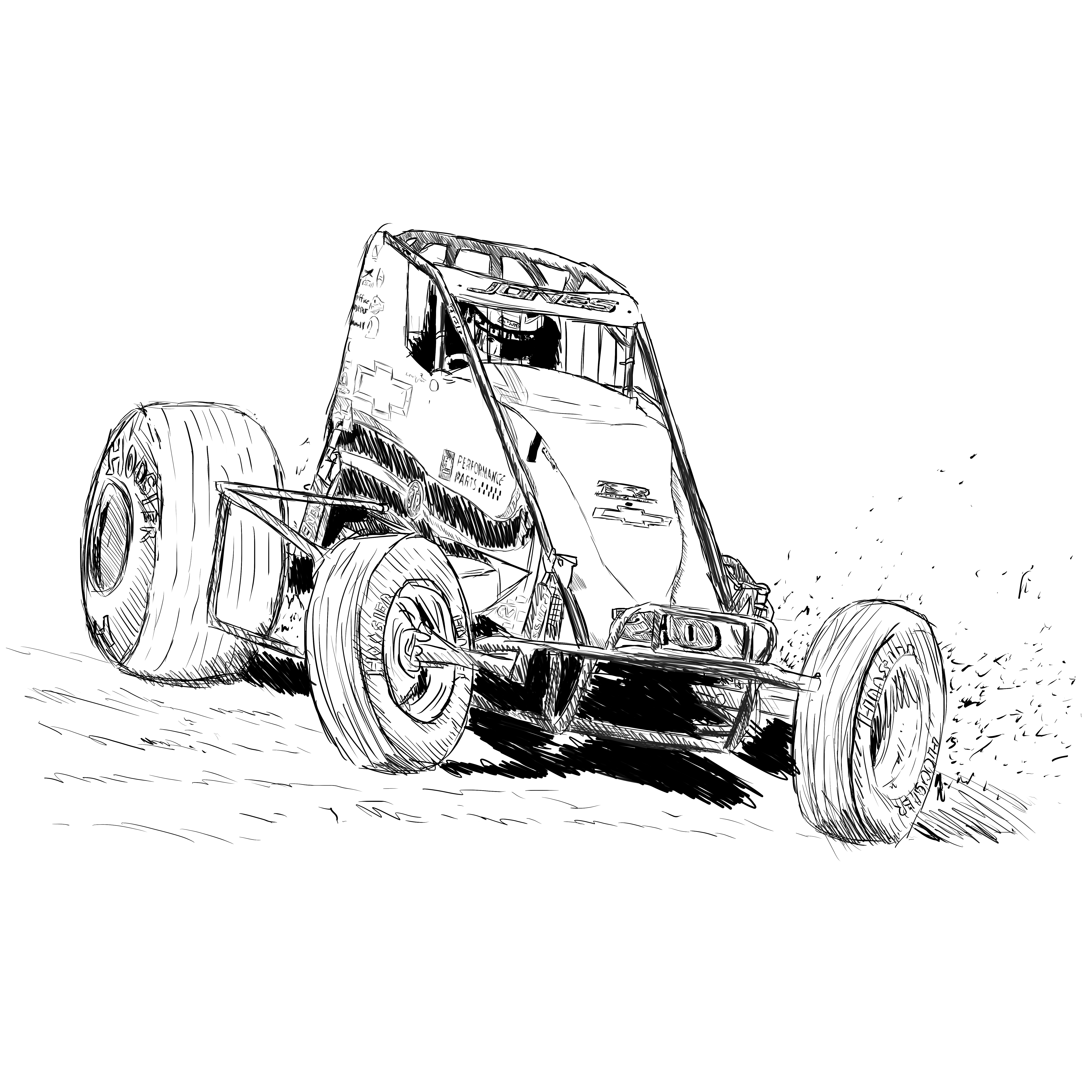 28 Collection of Late Model Race Car Coloring Pages