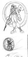 Steampunk WW2 Soldier sketch