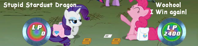Ponies Playing Yugioh