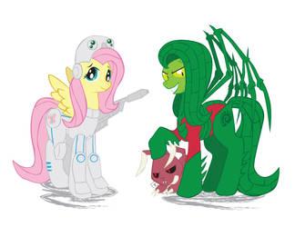 Fluttershy - Ponycraft 2 by Inspectornills