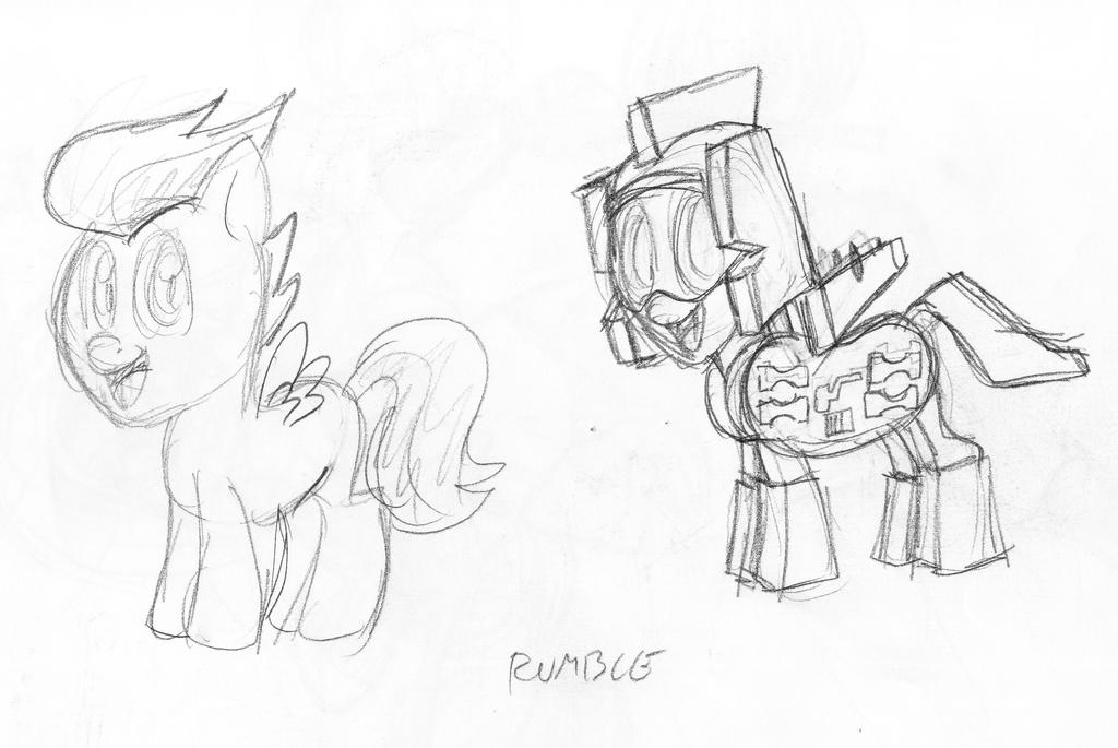 Rumble sketch by Inspectornills
