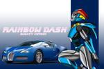 Rainbow Dash as a Transformer