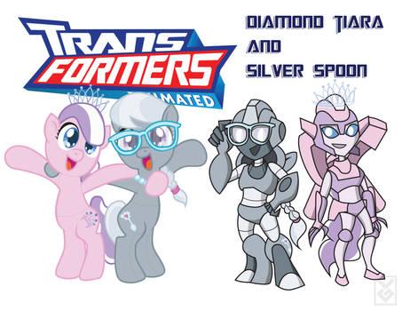 Transformares  Diamond Tiara and Silver Spoon